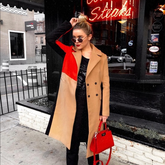Jackets & Blazers - Color block coat
